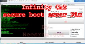 Infinity Cm2 secure boot error File