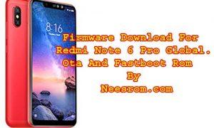 Redmi Note 6 Pro Firmware Download MIUI V10