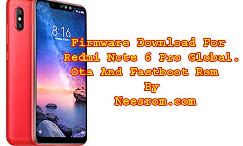 Redmi Note 6 Pro Firmware Download MIUI V10