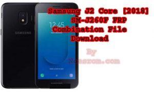 Samsung J2 Core [2018] SM-J260M FRP Combination File