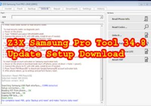 Z3X Samsung Pro Tool 34 8 Update Setup Download | Neesrom