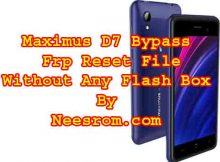 Maximus D7 Bypass Frp Reset File Without Any Flash Box
