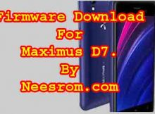 Maximus D7 GP Fimrware Flash File download
