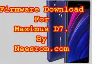 Maximus D7 GP Fimrware Flash File download
