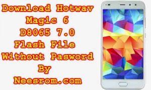 Download Hotwav Magic 6 D8065 7.0 Flash File
