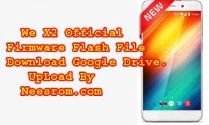 We X2 firmware Flash File Without Password