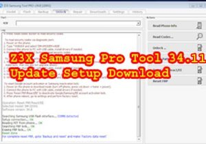 Z3X Samsung Pro Tool 34.11 Update Setup Download