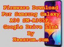Samsung Galaxy A30 SM-A305F Firmware 9.0