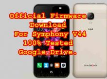Symphony V44 Official Firmware Flash File Without Password