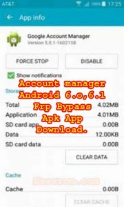GOOGLE ACCOUNT MANAGER ANDROID 6.0,6.1 APK App