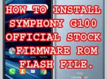 Symphony G100 Firmware Flash File Without Password