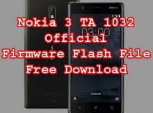 Firmware Download For Nokia 3 TA 1032
