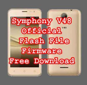 Symphony V48 Official Firmware Flash File