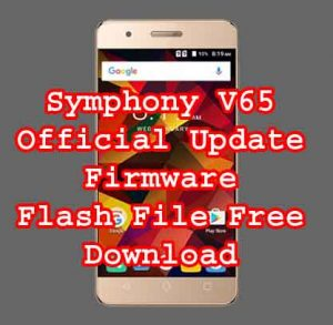 Symphony V65 firmware Stock Rom flash file