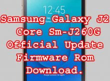 SAMSUNG Galaxy J2 Core SM-J260G FIRMWARE 8.1.0 OREO software update download