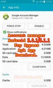 GOOGLE ACCOUNT MANAGER ANDROID 5.0.1/5.1.1 APK