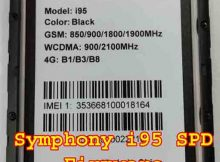 Symphony I95 SPD Firmware Flash File Without Password