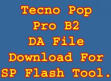 Tecno Pop 2 Pro B2 DA Sp Flash Tool Boot File Free Download