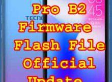 Tecno Pop 2 Pro B2 Firmware Flash File Without password