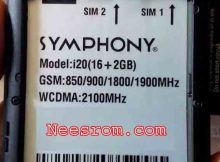 SYMPHONY i20 FIRMWARE FLASH FILE 2GB RAM Without password
