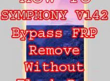 SYMPHONY V142 BYPASS FRP RESET WITHOUT BOX