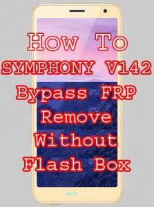 SYMPHONY V142 BYPASS FRP RESET WITHOUT BOX