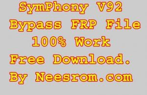 Symphony V92 Bypass FRP Reset File Without Password