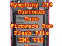 Symphony i18 Firmware Flash File Without Password