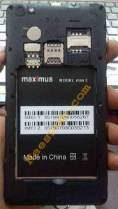 Maximus Max 3 Stock Firmware Rom Flash File Without Password