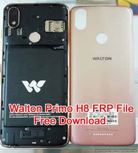 How To Walton Primo H8 Bypass FRP Reset File