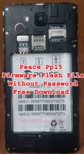 Peace pp15 Flash File Without Password
