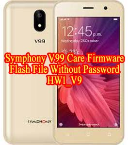 Symphony V99 Firmware Flash File Without Password