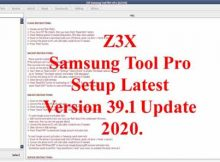 Z3X Samsung Tool Pro Setup Latest Version 39.1 Update 2020