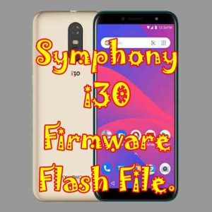 Symphony i30 firmware flash file without password