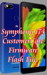 Symphony i74 Stock firmware rom flash file free without password