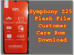 Symphony Z25 Firmware Flash File Without Password